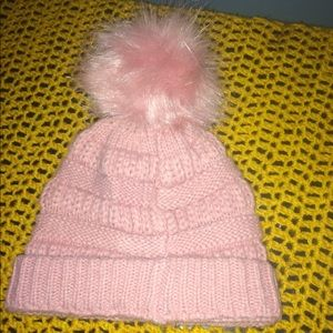 Pink ball hat